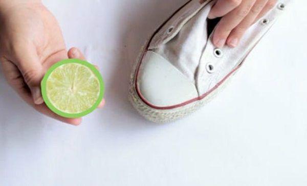limpiar converse blancas con limon