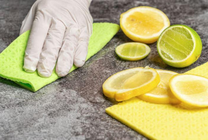 limpiar horno muy sucio con limon