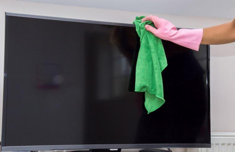 limpiar tv con paño microfibra
