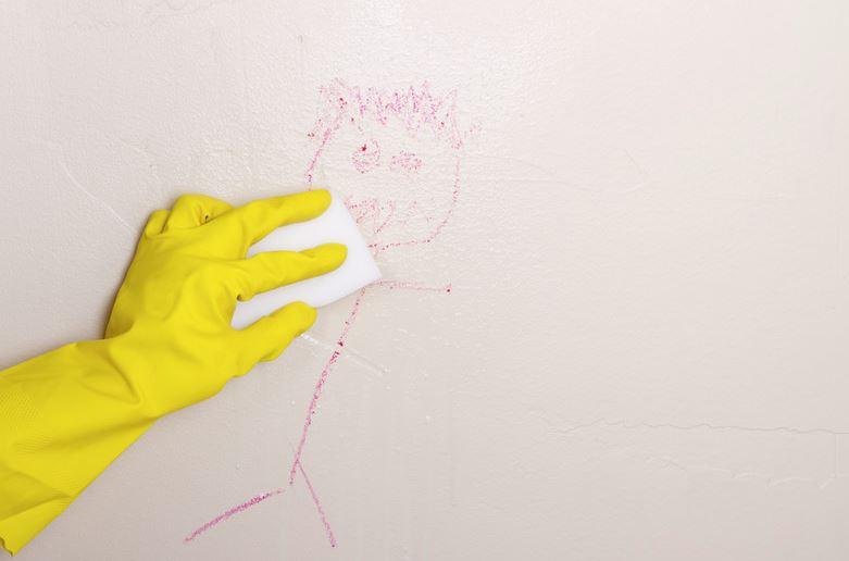 limpiar pared con magic eraser