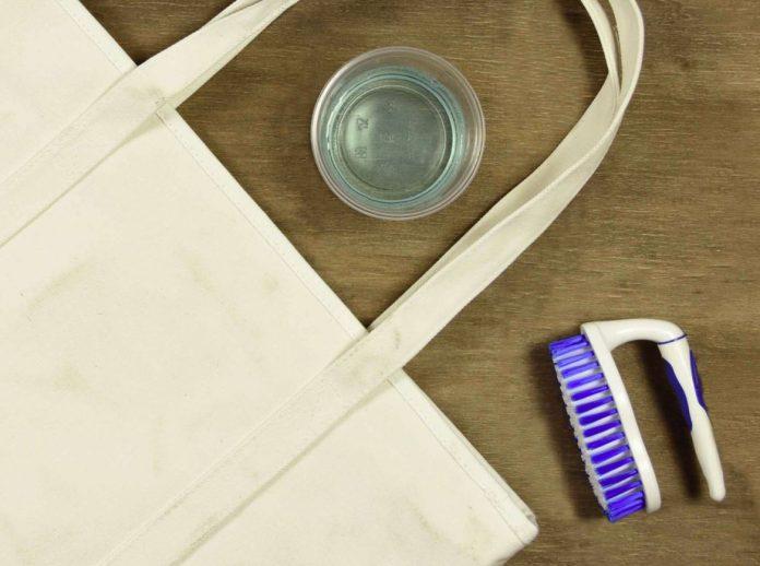 como limpiar un bolso de tela