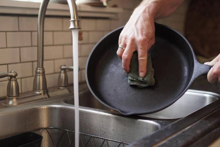 limpieza sarten de hierro limpiezapedia