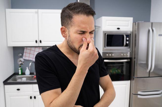 porque huele mal el microondas
