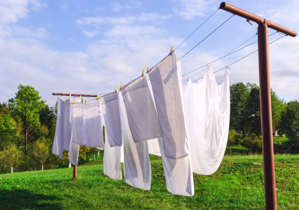 secar sabanas al aire libre
