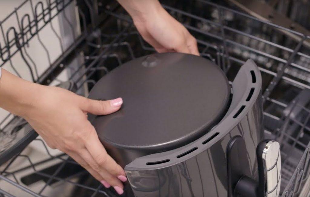 como limpiar la freidora sin aceite en lavavajillas