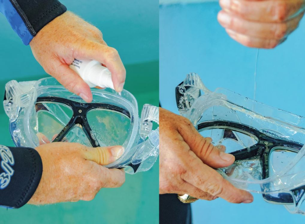 como limpiar gafas de bucear
