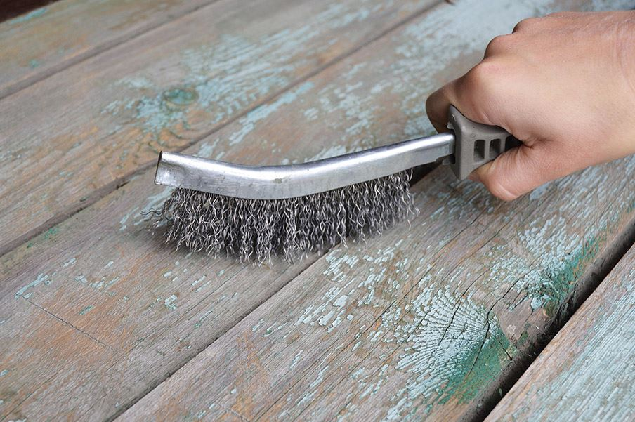 como quitar pintura de la madera facil
