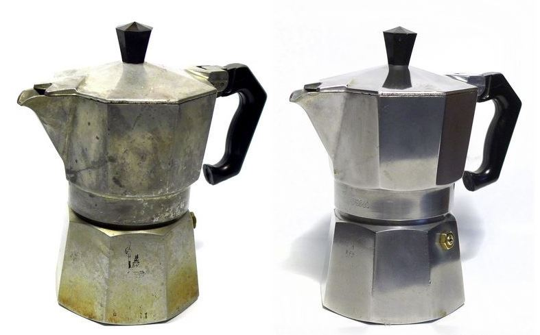 como se limpia una cafetera italiana