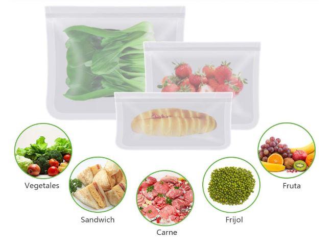comprar bolsas reutilizables para congelador