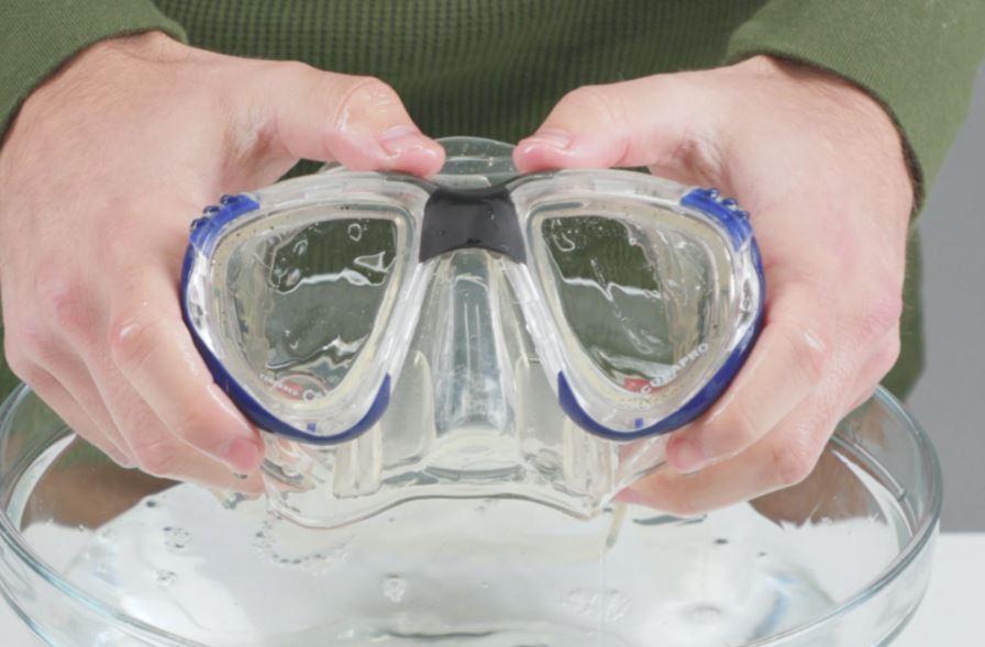 limpiar gafas de buceo nuevas