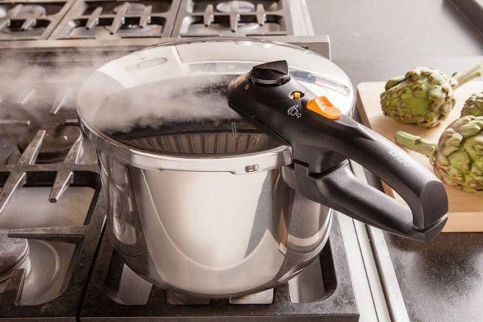 limpiar la olla a presión
