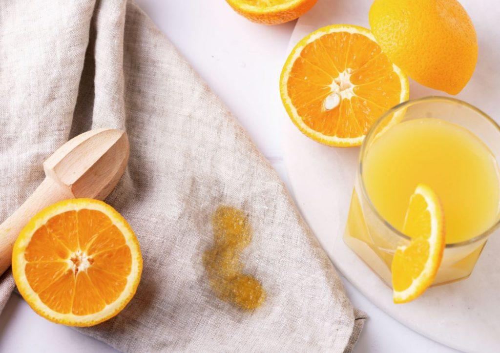 como quitar manchas de zumo de naranja