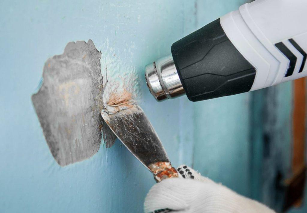 como quitar pintura de la pared