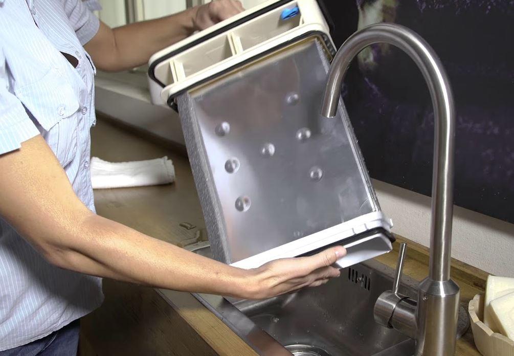limpiar condensador de la lavadora