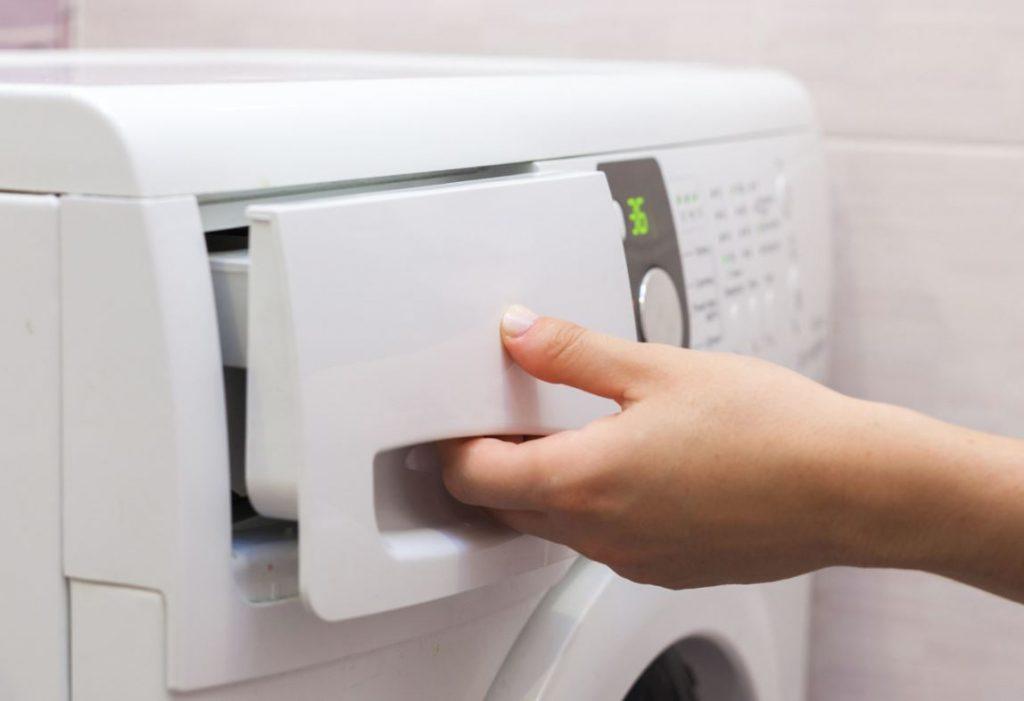 limpiar el cajetin de la lavadora