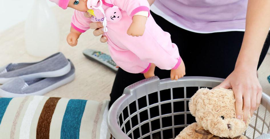 limpiar muñecas en lavadora