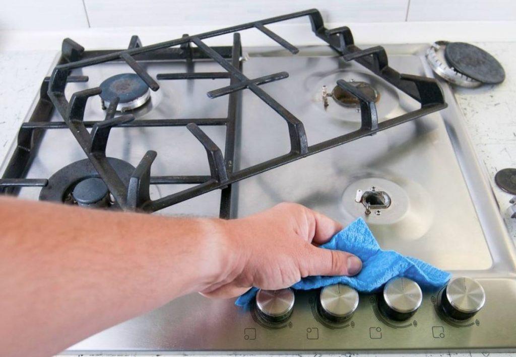 limpiar quemadores de cocina