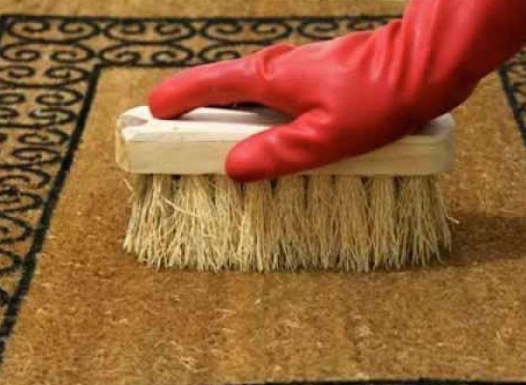 limpieza felpudo coco cepillo cerdas